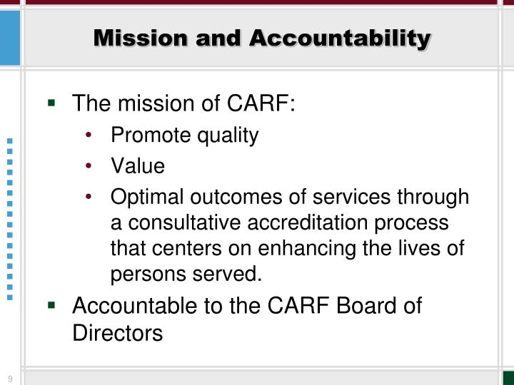 Mission and Accountability