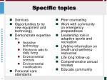 specific topics3
