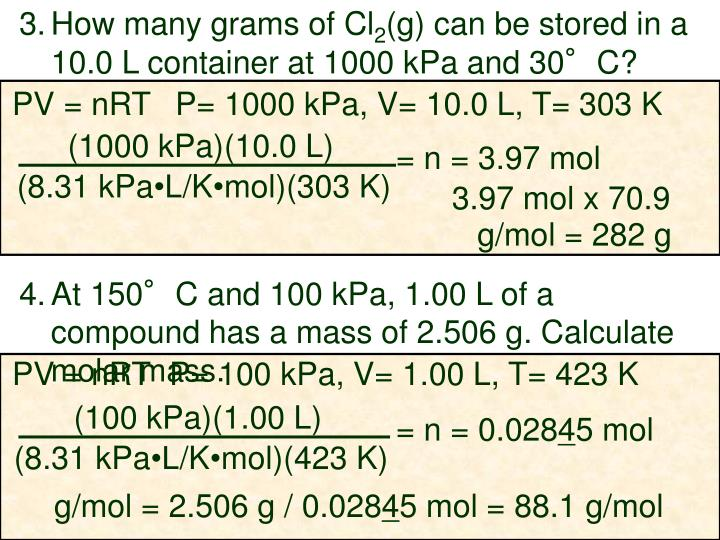 How many grams of Cl