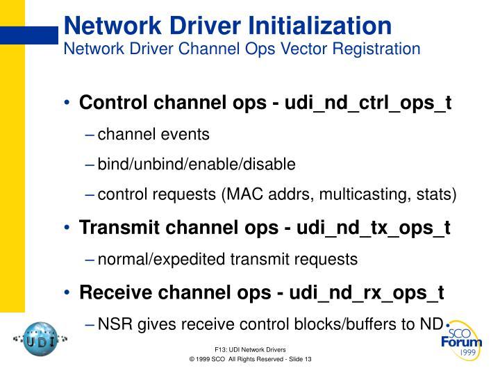 Network Driver Initialization