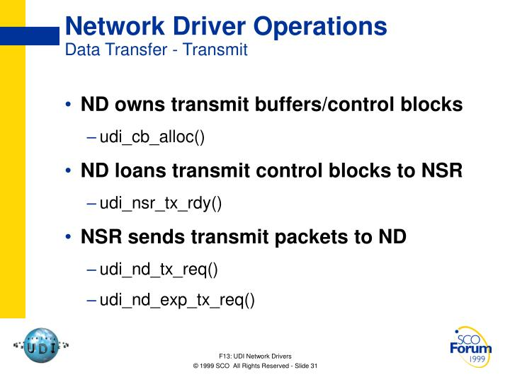 Network Driver Operations