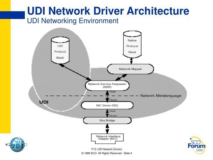 UDI Network Driver Architecture