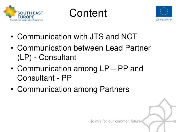 Communication with JTS and NCT