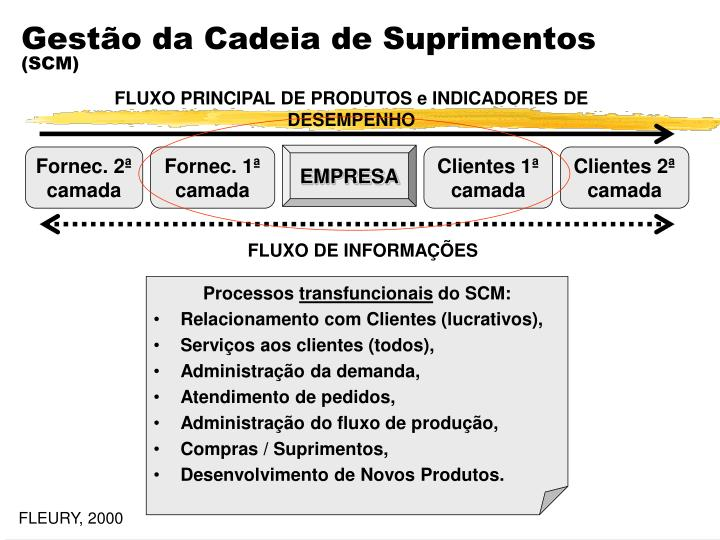 FLUXO PRINCIPAL DE PRODUTOS e INDICADORES DE DESEMPENHO
