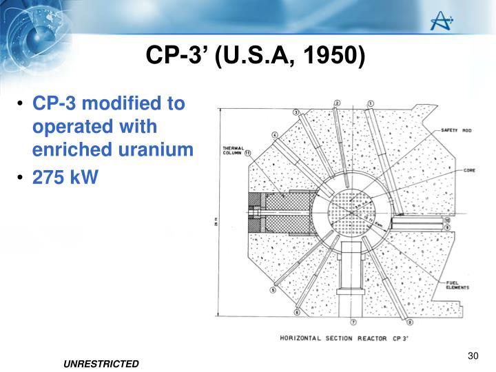 CP-3' (U.S.A, 1950)