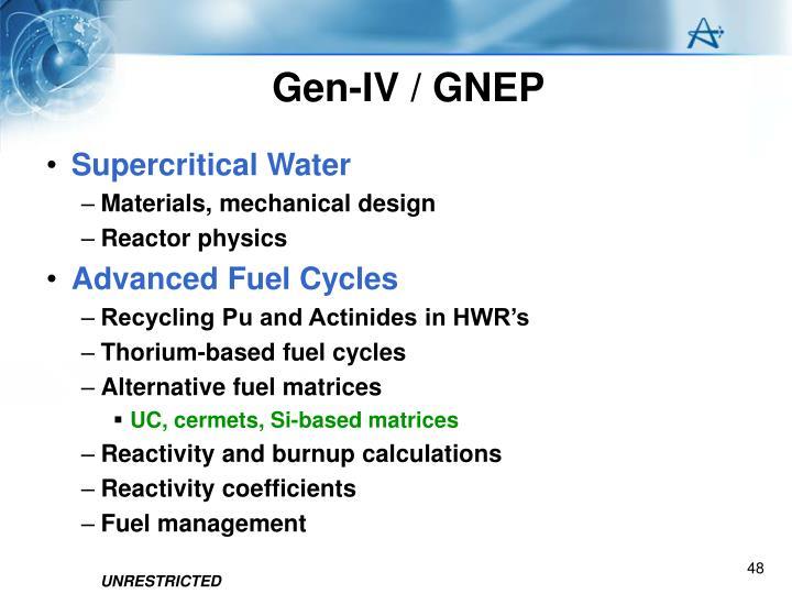 Gen-IV / GNEP