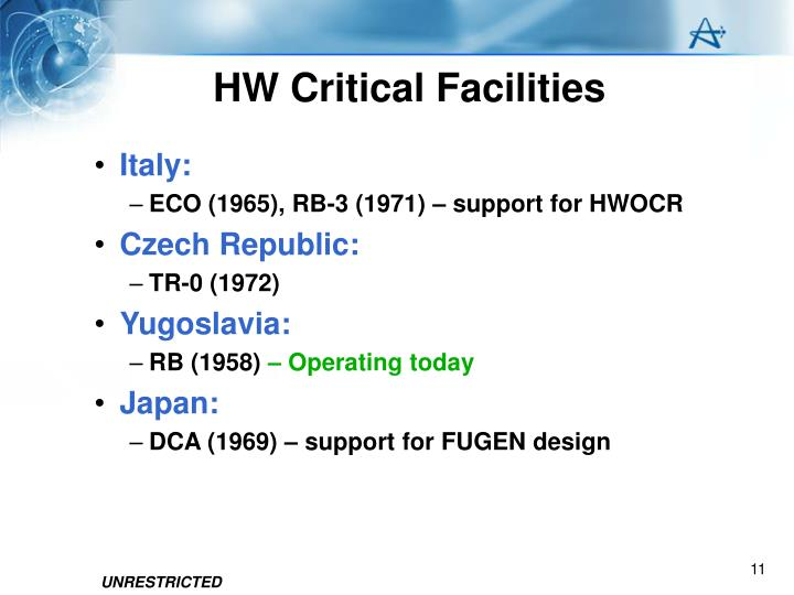 HW Critical Facilities