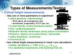 types of measurements testing1
