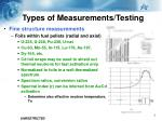 types of measurements testing4