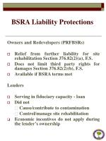 bsra liability protections