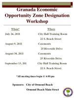 granada economic opportunity zone designation workshop