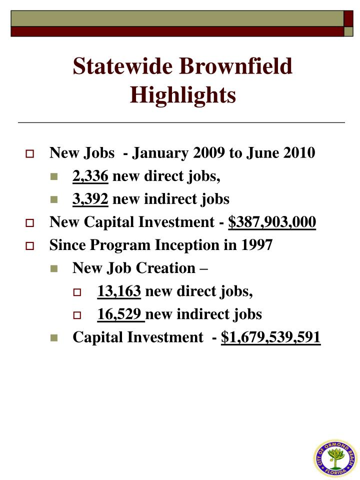 Statewide Brownfield Highlights
