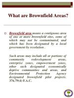 what are brownfield areas