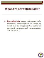 what are brownfield sites