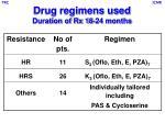 drug regimens used duration of rx 18 24 months