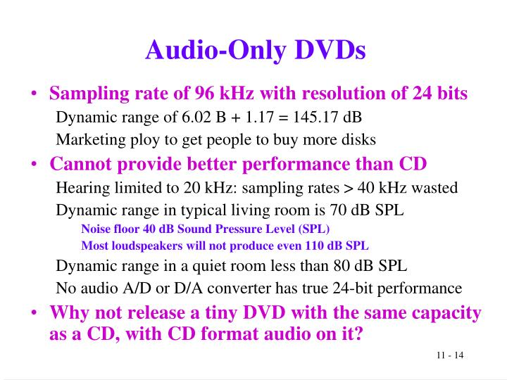 Audio-Only DVDs