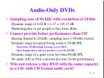 audio only dvds