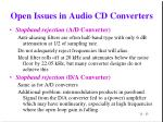 open issues in audio cd converters1