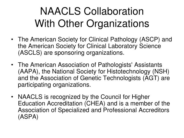 NAACLS Collaboration
