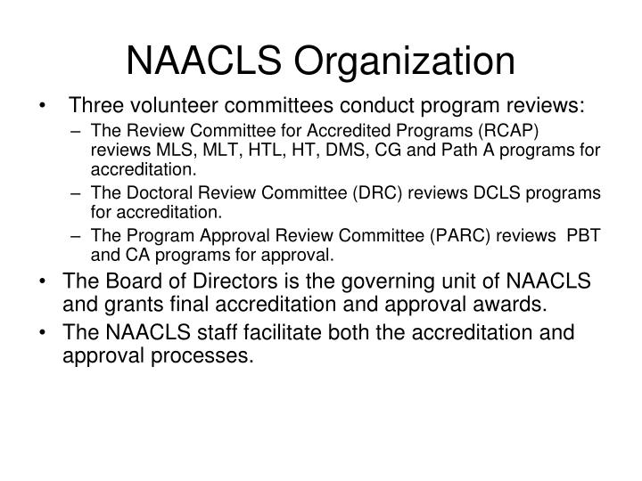 NAACLS Organization
