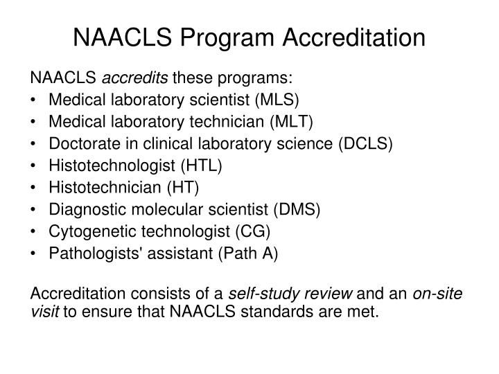 NAACLS Program Accreditation