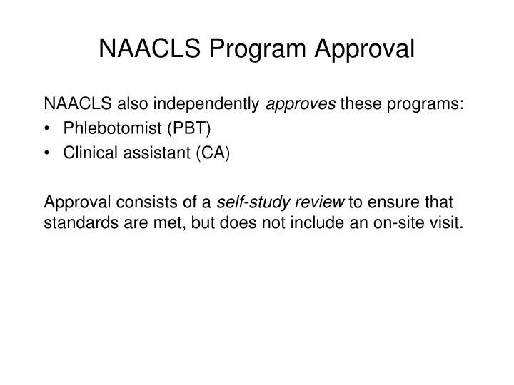 NAACLS Program Approval