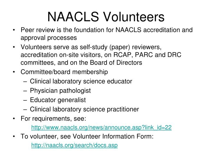 NAACLS Volunteers