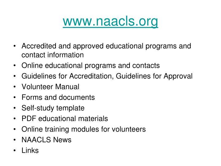 www.naacls.org