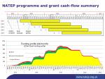 natep programme and grant cash flow summary