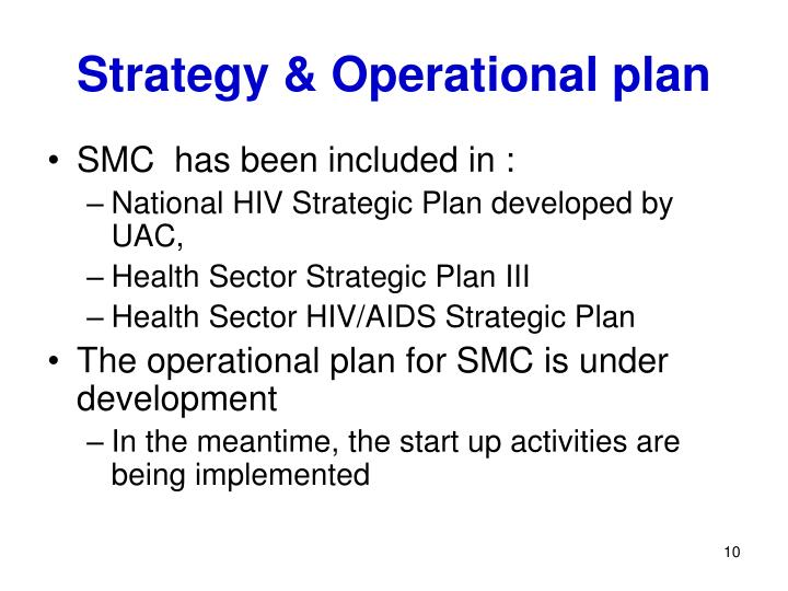 Strategy & Operational plan