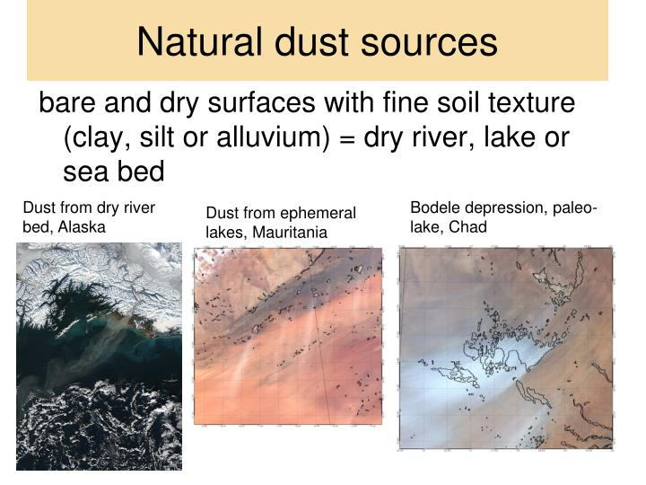Natural dust sources