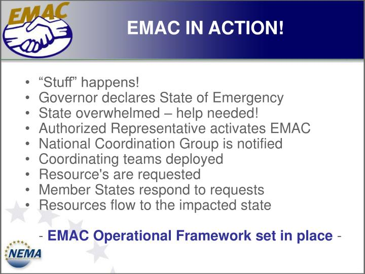 EMAC IN ACTION!