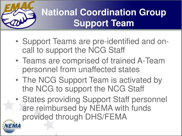 National Coordination Group Support Team