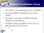 national coordination group