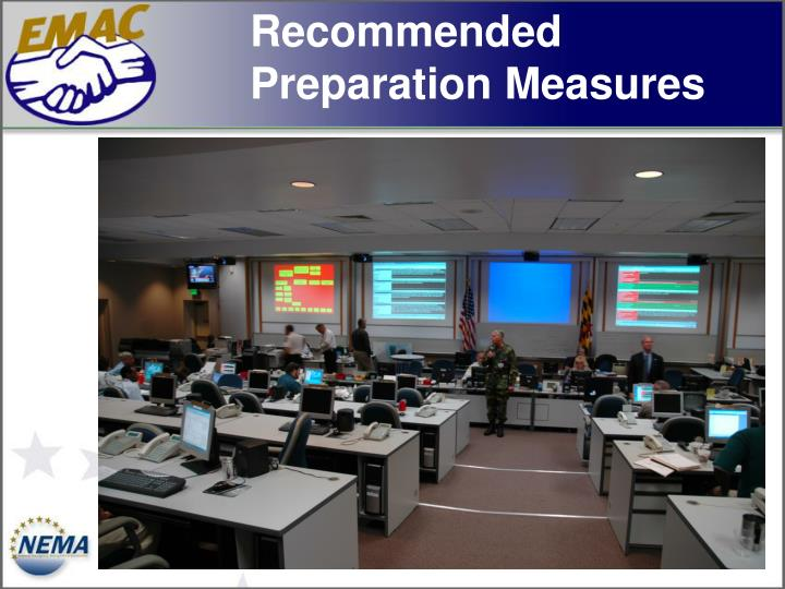 Recommended Preparation Measures