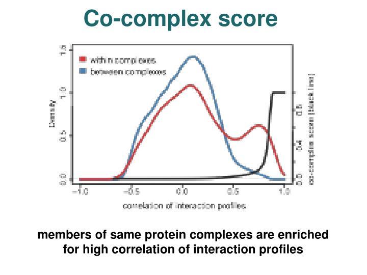 Co-complex score
