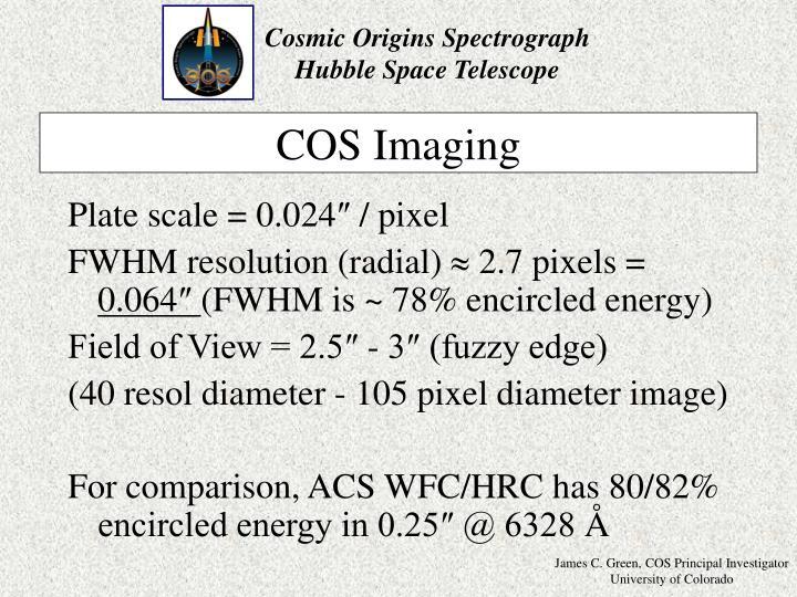 COS Imaging