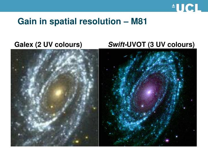 Gain in spatial resolution – M81