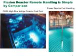 fission reactor remote handling is simple by comparison