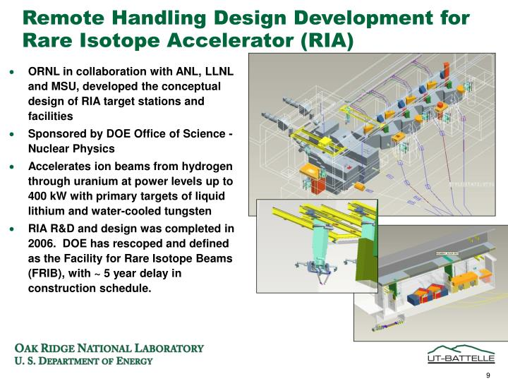 Remote Handling Design Development for Rare Isotope Accelerator (RIA)
