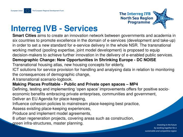 Interreg IVB - Services