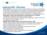 interreg ivb services
