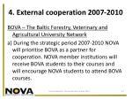 4 external cooperation 2007 2010