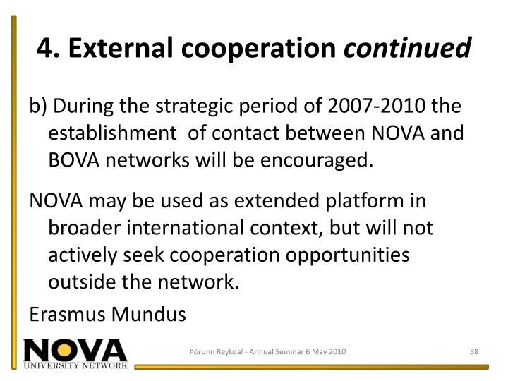 4. External cooperation