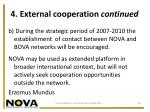 4 external cooperation continued
