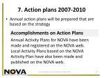 7 action plans 2007 2010