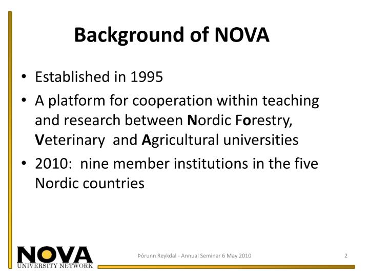 Background of NOVA