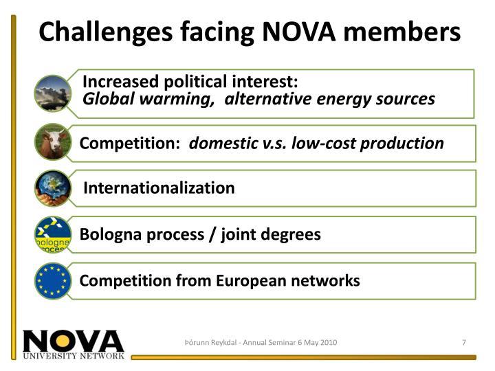 Challenges facing NOVA members