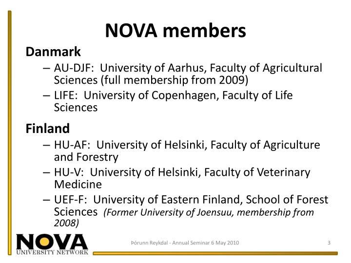 NOVA members