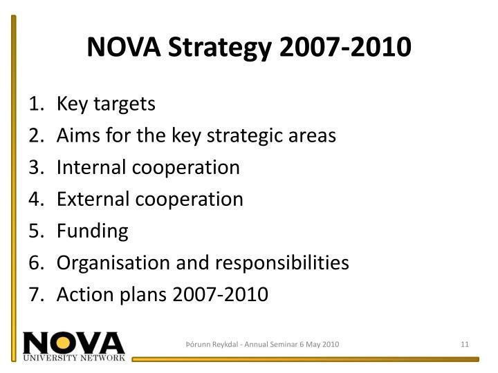 NOVA Strategy 2007-2010